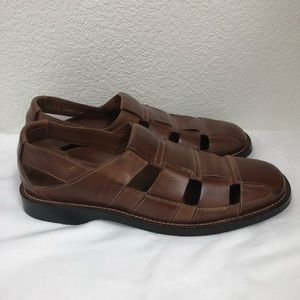 Cole Haan fisherman leather sandals slip on 11 M